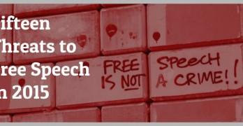 15 Threats to Free Speech in 2015