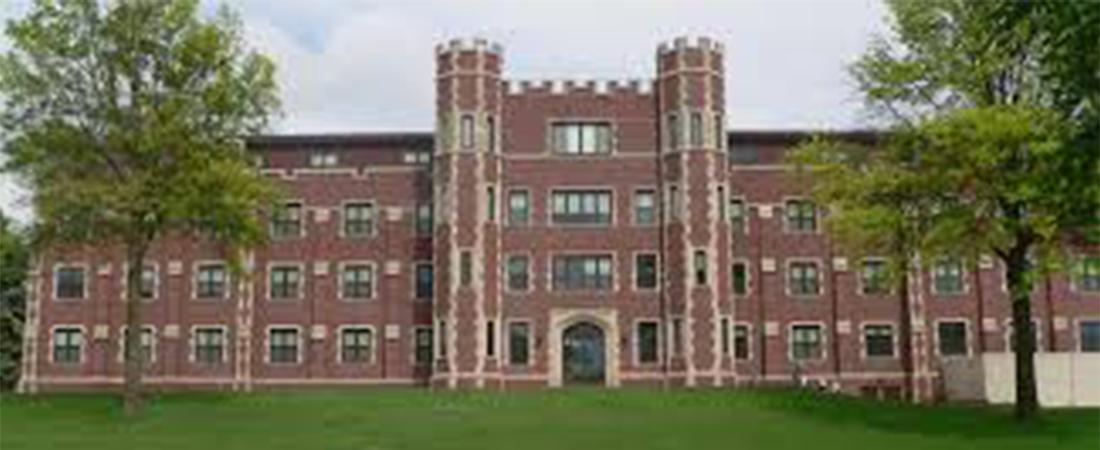 A red brick hall at Doane University