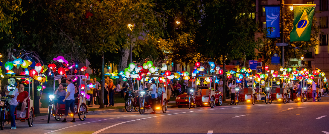 Cai Guo-Qiang's Fireflies exhibited 2017