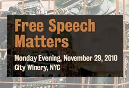 """""""Free Speech Matters"""" Benefit 2010"""
