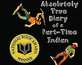 The book cover of Alexie's absolutely true diary of a part-time indian